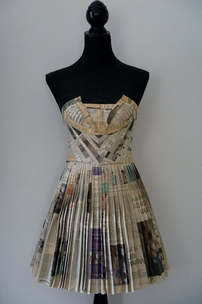 A Dress Made out of Old Newspaper